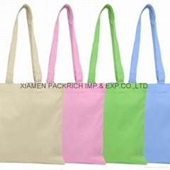 2012 customed cheap cotton bag with long handle