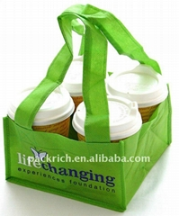100% Recycled eco-friendly non woven coffee bottle bag