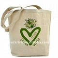 100% Natural/Raw cotton shopping bag