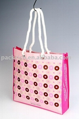 Laminated non woven shopping bag with cotton rope