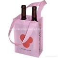 Promotional 2 bottle non woven bottle