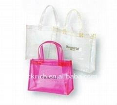 Fashion PVC cosmetic handle bag for lady