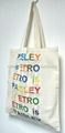 2018 Natural cotton tote bag with colorful printing
