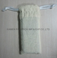 Promotional cotton phone pouch with cotton cord