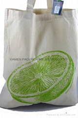 Promotional cotton shopping bag with silk screen printing
