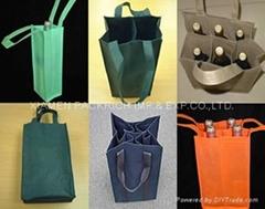 Cheap non woven wine bottle bag