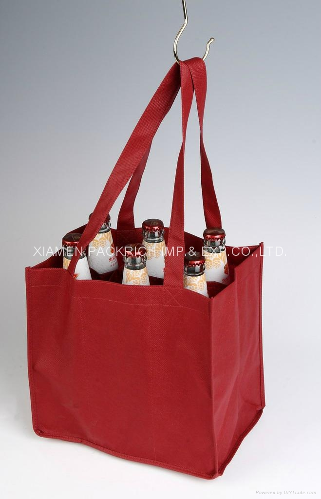 Large PPSB non woven wine bag for 6 bottles