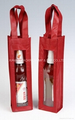 NIce looking non woven wine bottle gift bag
