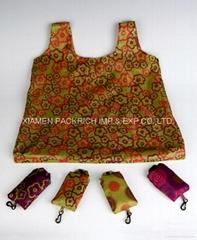 Custom printing pattern Polyester foldable bag