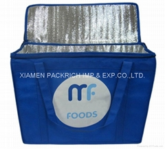 Blue non woven polypropylene chiller shopping bags