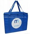Blue non woven polypropylene chiller shopping bags