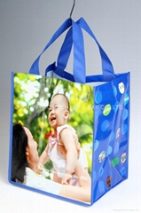 Large laminated non woven grocery shopping bag