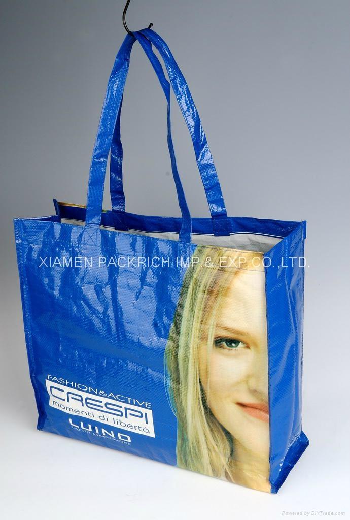 Fashional Laminated PP Woven tote bag 1
