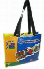 Long handle PP Woven lamination shopping bag