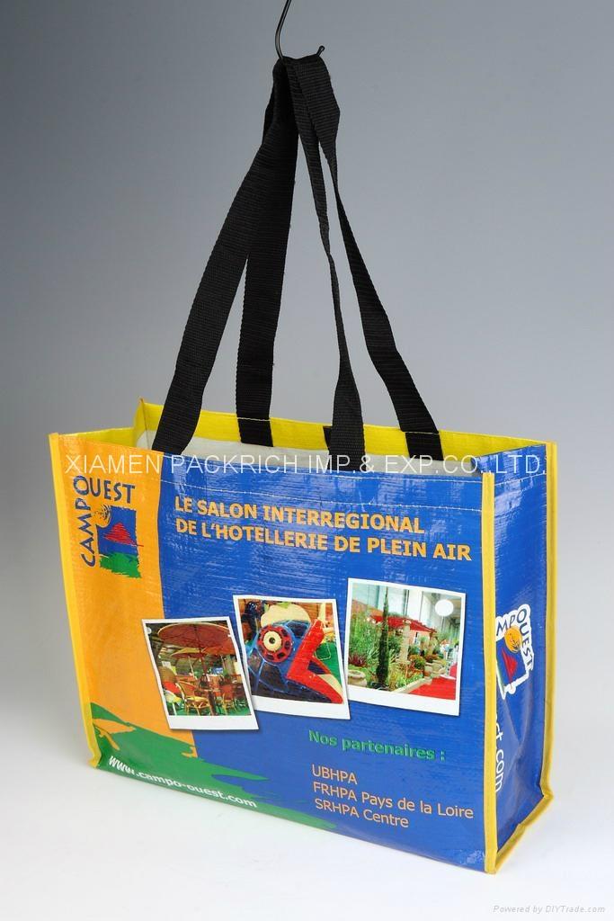 Long handle PP Woven lamination shopping bag  2