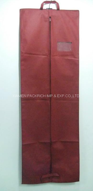 High quality non-woven gown dress bridal cover with PVC window 2