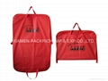 Beauty red PEVA foldable garment bag
