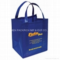 High quality blue non woven grocery tote
