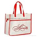 Reusable non woven shopping bag with red