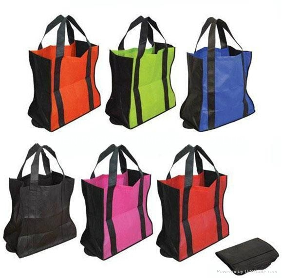 Eco-friendly non woven promotion foldable grocery bags 1