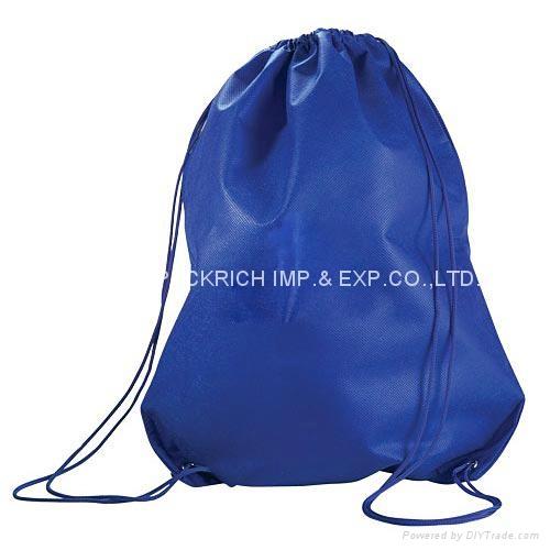 210D polyester sport gym drawstring bag