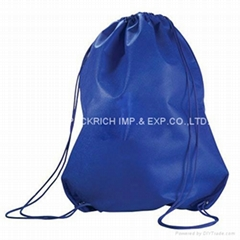 210D polyester sport gym drawstring bag
