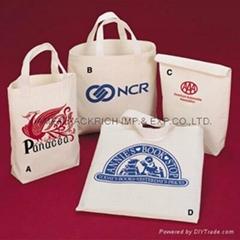 Custom cotton canvas cinch bag