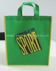 Customized  green non woven shopping bag