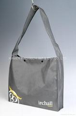 Popular Grey Non woven shoulder bag with silk print