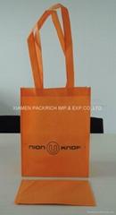 Long handle foldable non woven shopping bag