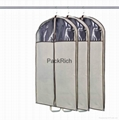 Colored non woven polypropylene+pvc garment bag 2
