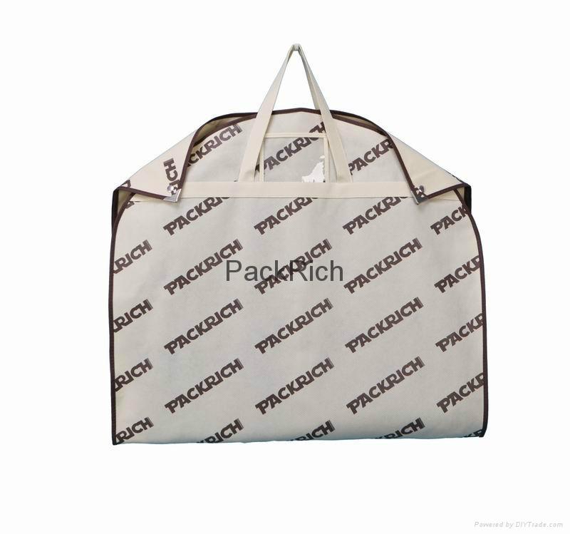 Colored non woven polypropylene+pvc garment bag 3