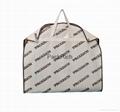 Colored non woven polypropylene+pvc garment bag