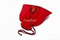 High quality velvet drawstring bag for  packing gift 4