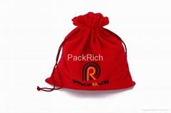 High quality velvet drawstring bag for  packing gift