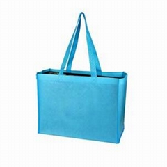 Long handle non woven carrier bag