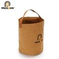New Arrival Customized Logo Kraft Bucket Bag/Round Durable Washable Kraft Paper