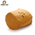 New Arrival Customized Logo Kraft Bucket Bag/Round Durable Washable Kraft Paper  3