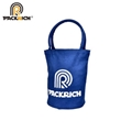 wholesale blank blue canvas round tote bag