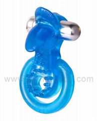 Adult Sex Toy - 7 speeds Hot Lips cockring  vibrator