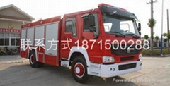 HOWO heavy truck  foam fire engine