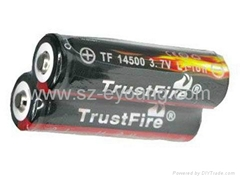 TrustFire TF14500 900mAh 3.7V non-protected li-ion Battery