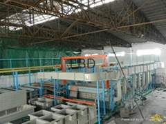 Automatic hydraulic puch type plating production line