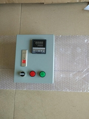 Liquid heater temperature control box