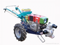 walking tractor with water pump