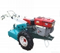 Agricultural walking tractor