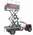 Multifunctional lifting platform power tiller