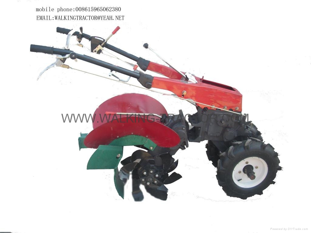 trenching and ridging device for walking tractor
