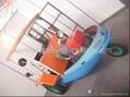 Boat type walking tractor