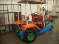 Boat type walking tractor